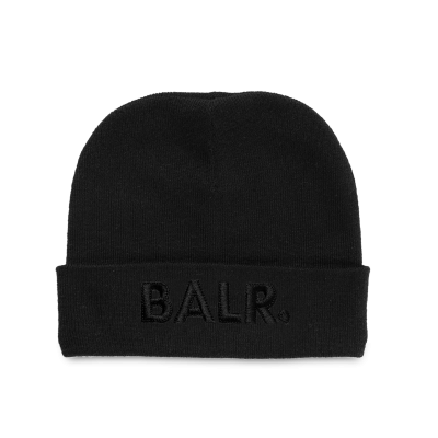 Embroidered Beanie Black on Black