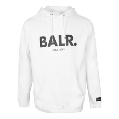 BALR. since straight hoodie White