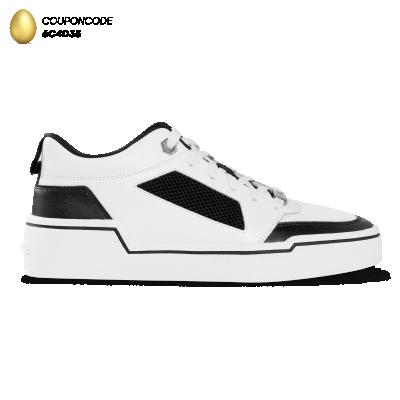 Mesh Panelled Low-Top Sneakers
