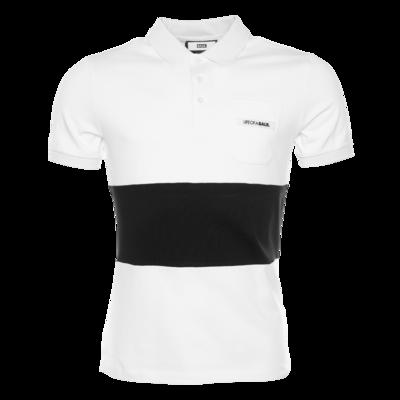 LOAB Striped Polo Sweat White