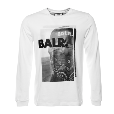 Black Label - Bandana Long Sleeve T-Shirt White