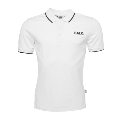 Brand Metal Logo Polo Shirt White