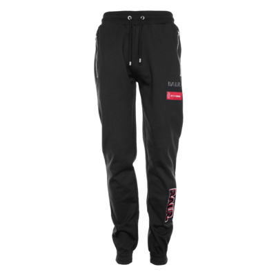 BALR. embroidered slim zip sweatpants Black