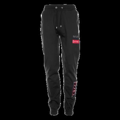 BALR. embroidered slim zip sweatpants Zwart