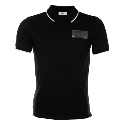 Silver Club Polo Shirt Black