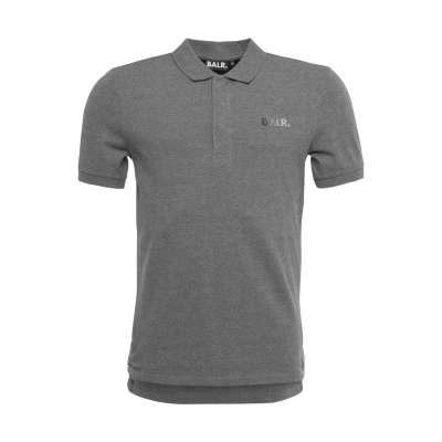 Metal Hexagon Polo Shirt Grey