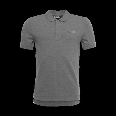 Metal Hexagon Polo Shirt Grijs