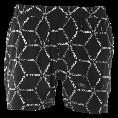 BALR. hexagon AOP swim shorts Black