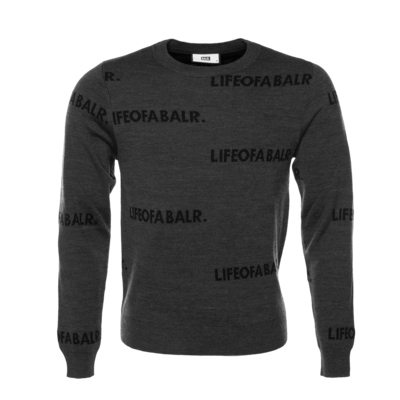 All-Over LIFEOFABALR. Crew Neck Sweater Grijs