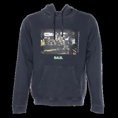 BALR. Tokyo straight hoodie Dark Grey