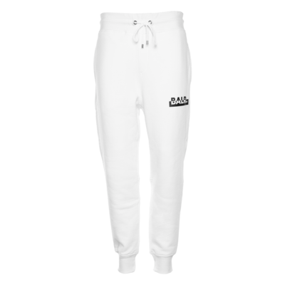 Contrasting Logo Straight Sweatpants White