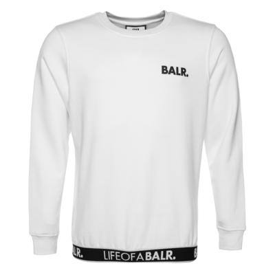 LOAB Lounge Straight Crew Neck Sweater White