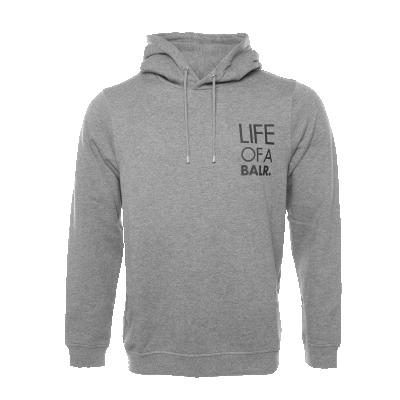 LIFEOFABALR. Logo Hoodie Grey