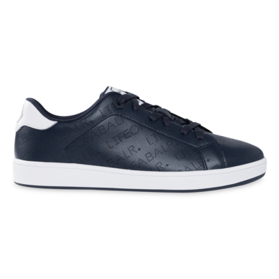 LOAB Perforated Leather Sneakers Navy