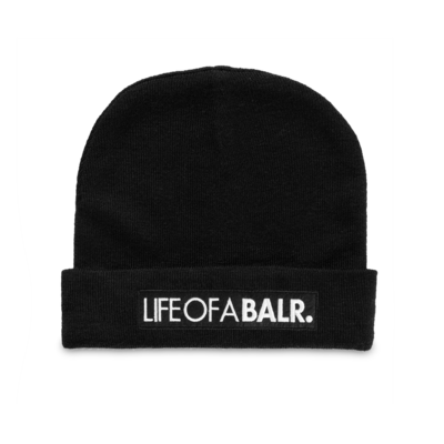 LIFEOFABALR. Big Club Logo Beanie Zwart