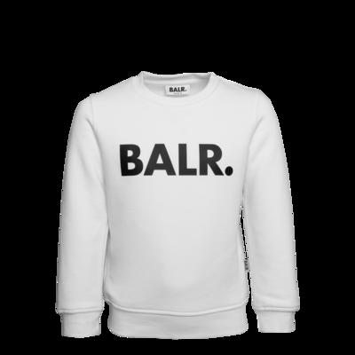 Brand Crew Neck Sweater Kids White