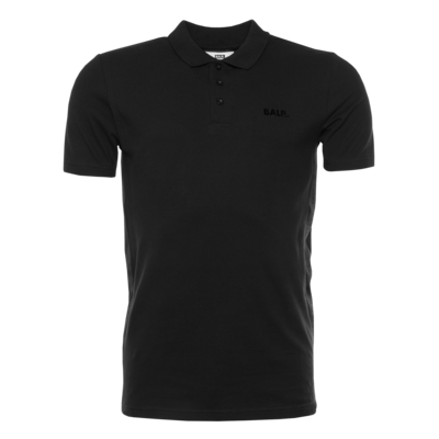 BALR. Tape Straight Polo Shirt Zwart