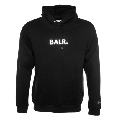 BALR. Embossed Straight Hoodie Black