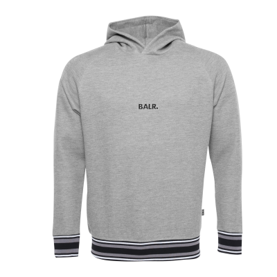 Q-Series Striped Hoodie Grey