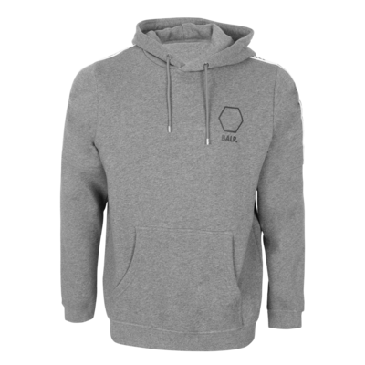 Hexagon tape straight hoodie Grey htr