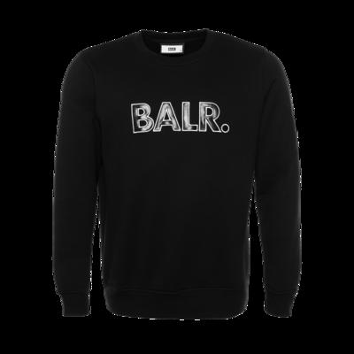 BALR. embro patch straight crew neck Black