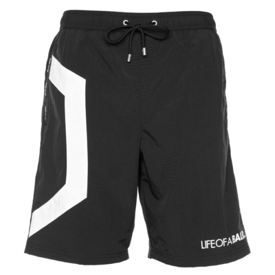 Hexagon Track Shorts Black
