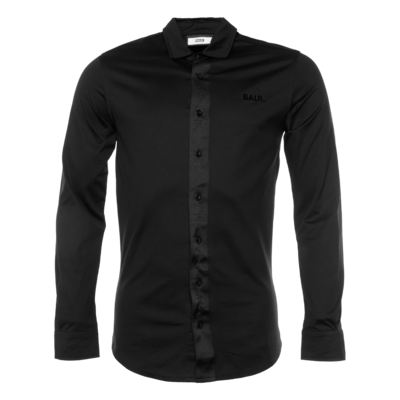 BALR. Tape Straight Shirt Long Sleeve Schwarz