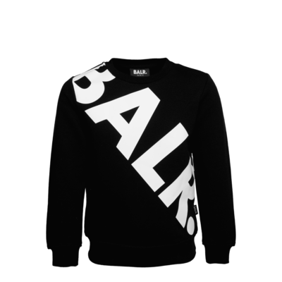 Tilted Logo Crew Neck Sweater Kids Black