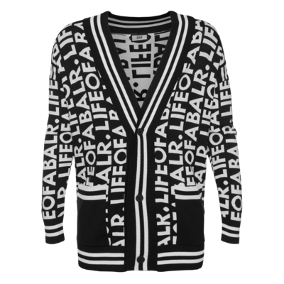 LOAB Graphic Straight Cardigan Noir