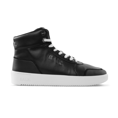 Leather Original Brand Sneakers High Schwarz