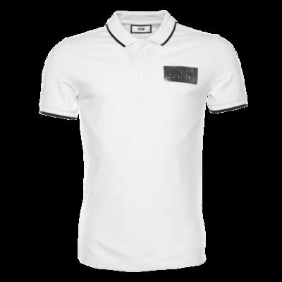 Silver Club Polo Shirt White