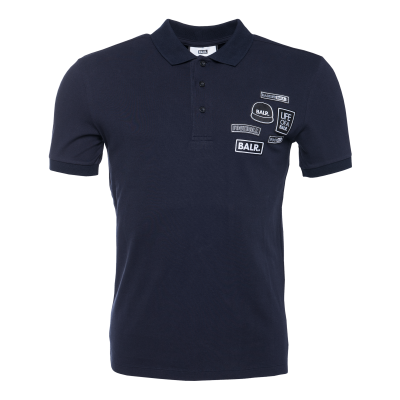 BALR. Badge Polo Shirt Marineblauw