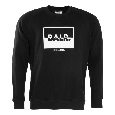 Contrasting Logo Crew Neck Sweater Black