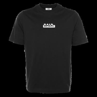 Contrasting Logo Loose T-Shirt Black