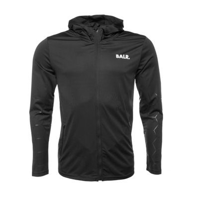 F-Series Hexagon Zipped Trainings Hoodie Black