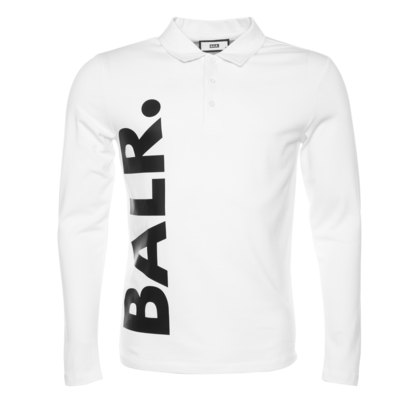 BALR. big logo straight long sleeve polo shirt Wit