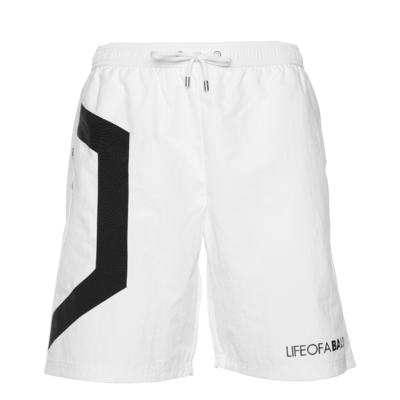 Hexagon Track Shorts White