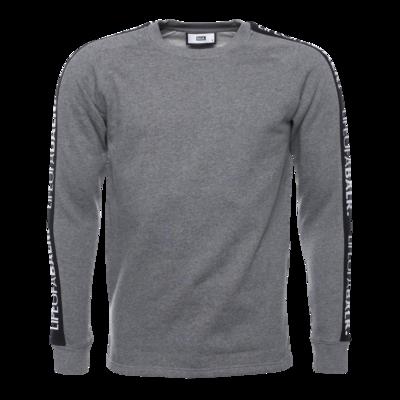 LIFEOFABALR. Tape Crew Neck Sweater Grey