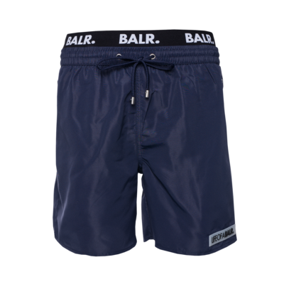 LOAB Badge Badeshorts Marineblau