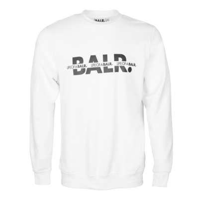 BALR. Crossed LOAB Straight Crew neck White