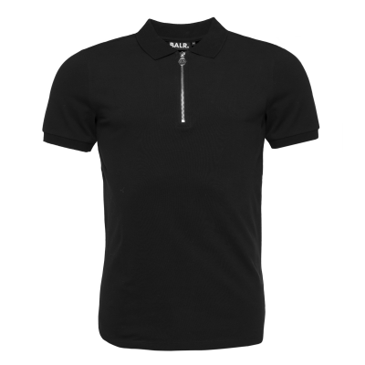Zipped Polo Shirt Black