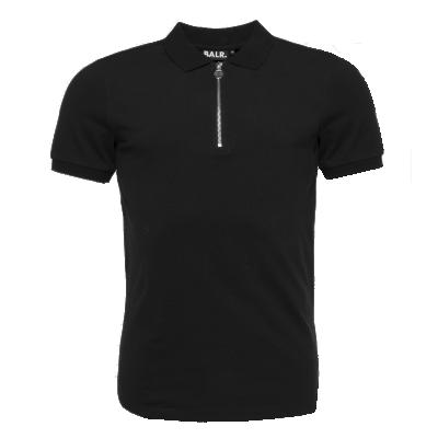 Zipped Polo Shirt Zwart