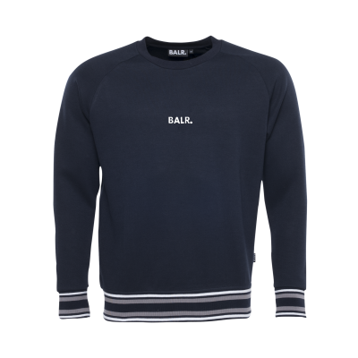 Q-Series Striped Crew Neck Sweater Marineblauw