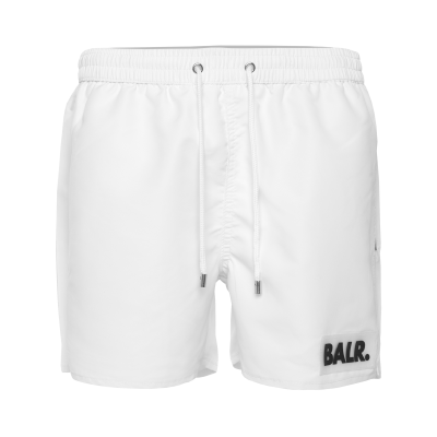 Rubber Box Logo Swim Shorts Wit