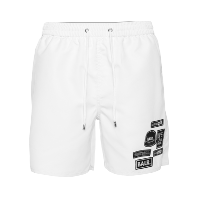BALR. Badge Swim Shorts Wit