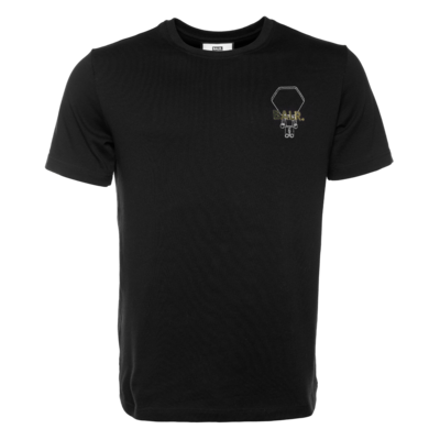 BALR. Hexagon Doll Straight T-Shirt Schwarz