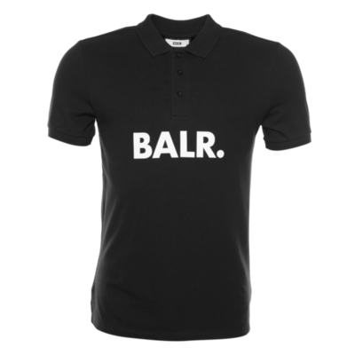 BALR. Big Logo Polo Shirt Zwart