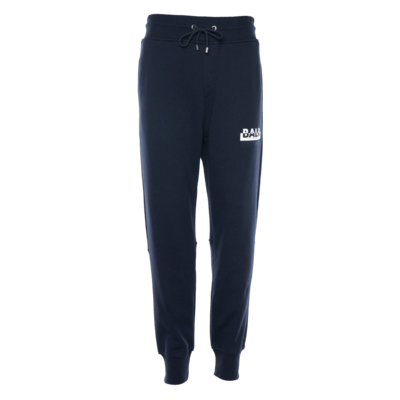 Contrasting Logo Straight Sweatpants Navy