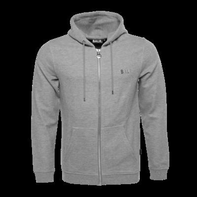Q-series Zipped Hoodie Grey
