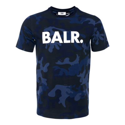 All-Over Camo Brand T-Shirt Marineblau
